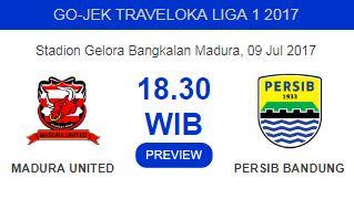 Prediksi Madura United vs Persib Bandung Minggu 9 Juli 2017