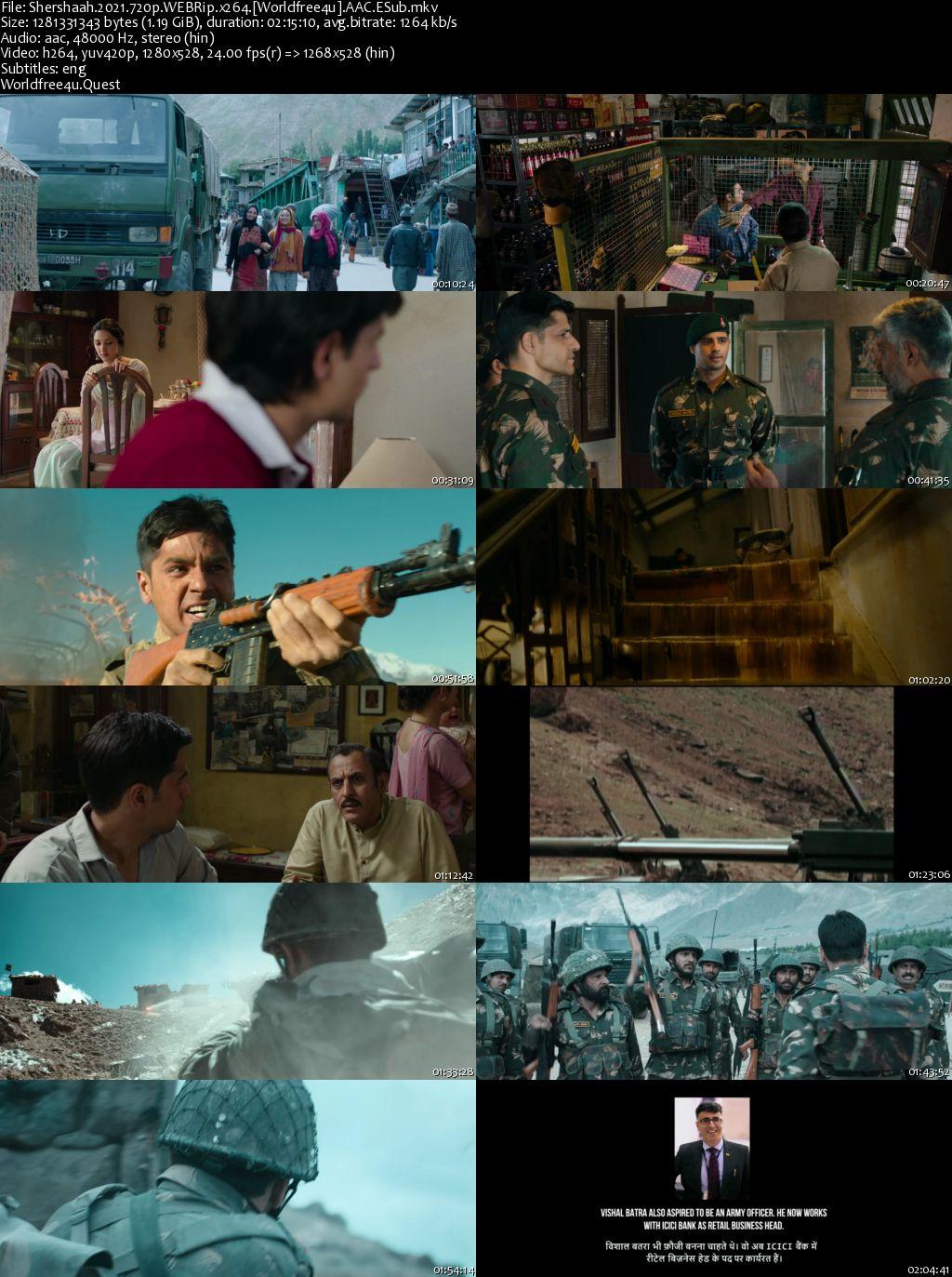 Shershaah 2021 Hindi Movie Download || HDRip || 480p || 720p || 1080p