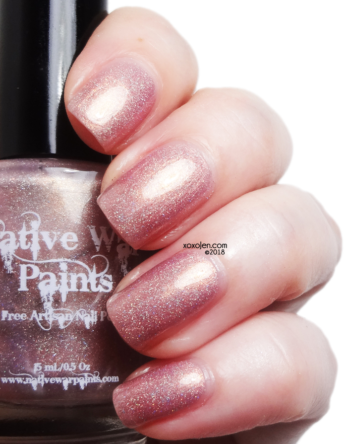 xoxoJen's swatch of Native War Paints This Beauty Loves Chocolate