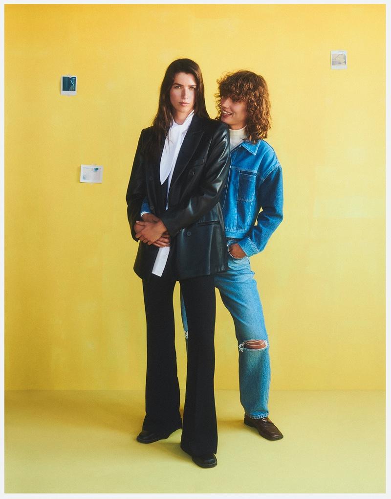 Gigi Ringel and Eeva Lioni star in Mango Family Portraits fall-winter 2021 campaign.