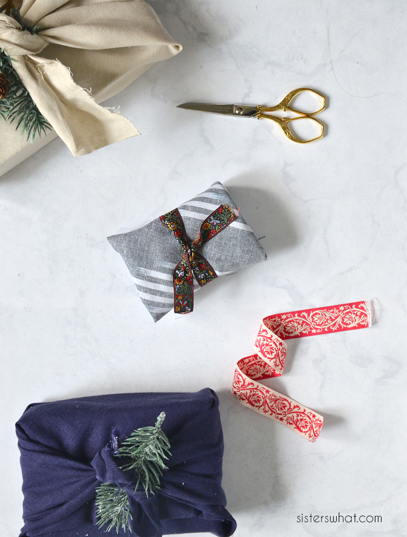how to furoshiki style wrap