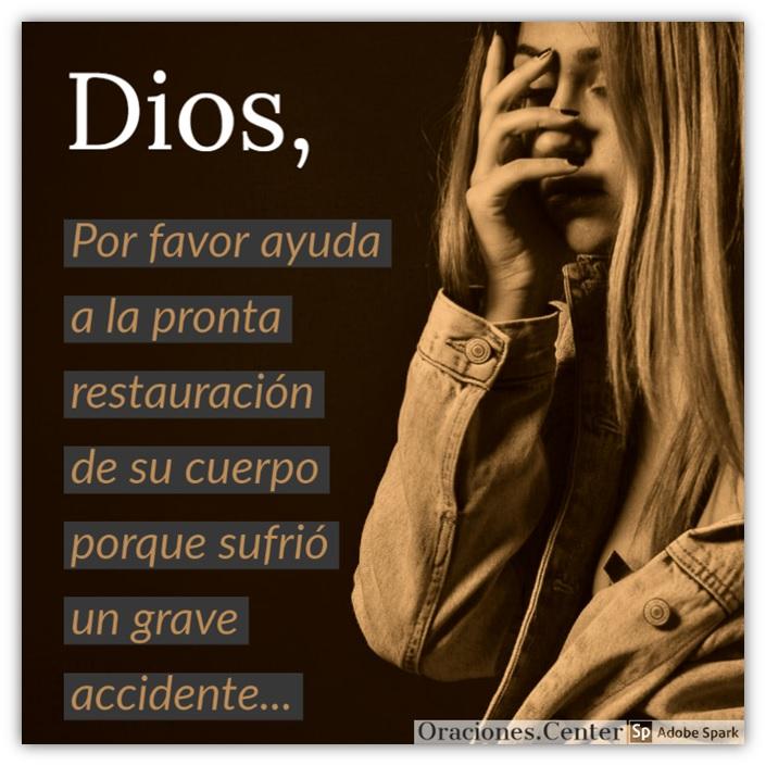 Oración para los Enfermos para un Accidentado Grave