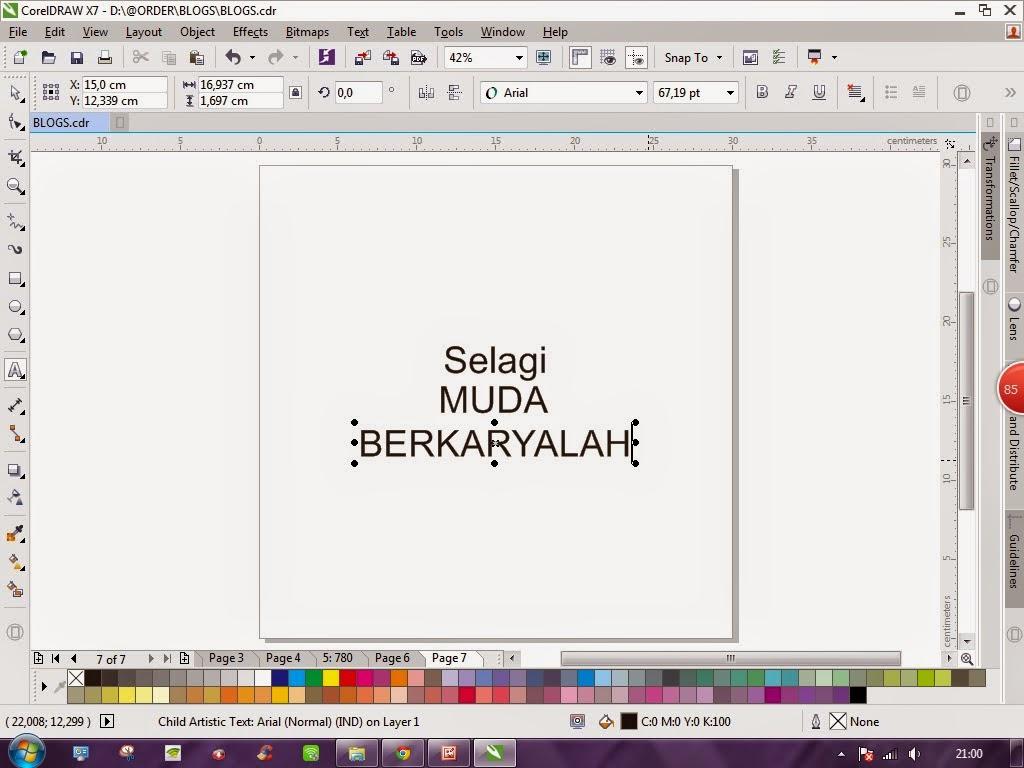 Dyne Creative Studio Tutorial Corel Draw Cara Membuat Tipografi