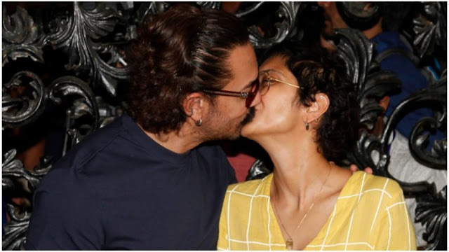 aamir khan and kiran rao kiss