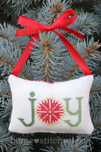 Free Kiwi Joy Pohutukawa Flower Cross Stitch Christmas Decoration Design New Zealand