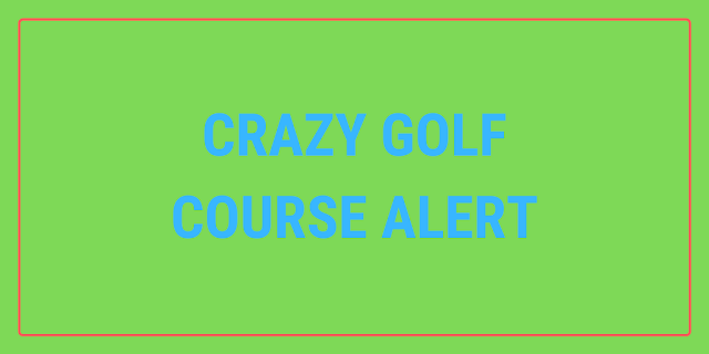 There's a pop up crazy golf course at the DL1 Leisure Park in Darlington during August 2021