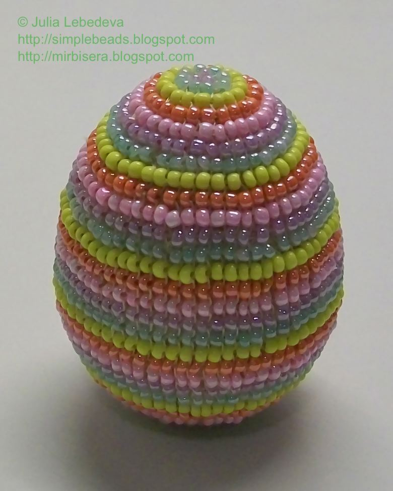 Яйцо из бисера ручное ткачество мастер класс поделка #1