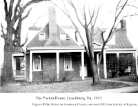 Photo, 'The Poston House,' Lynchburg, VA, 1937. Virginia W.P.A. Historical Inventory Project, retrieved 2021 from Library of Virginia.
