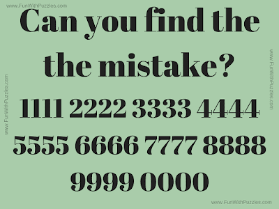 Find Mistake Puzzle