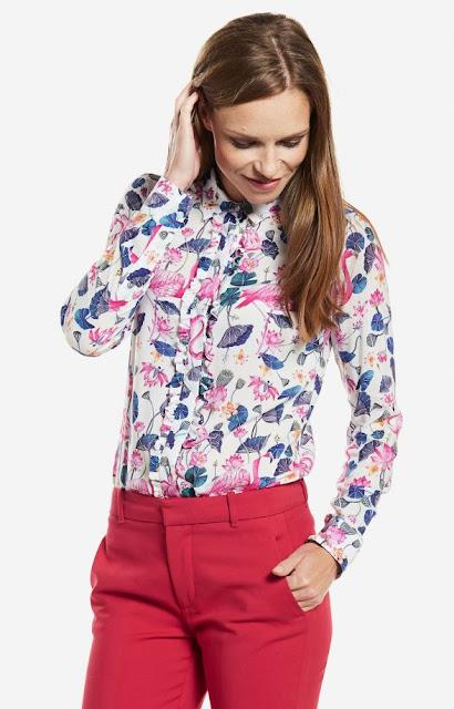 motyw flamingów koszula wólczanka,