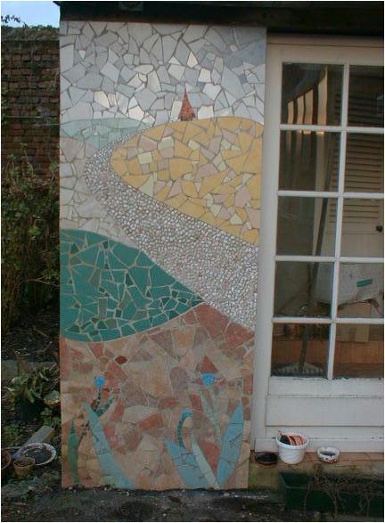 Paysage de campagne d'Artois dans le pas de calais réalisé en mosaïque