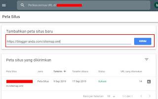 Submit Sitemap Atom ke Google Webmaster Tools