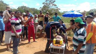 Acidente entre carro e moto deixa agricultor gravemente ferido em Nova Floresta