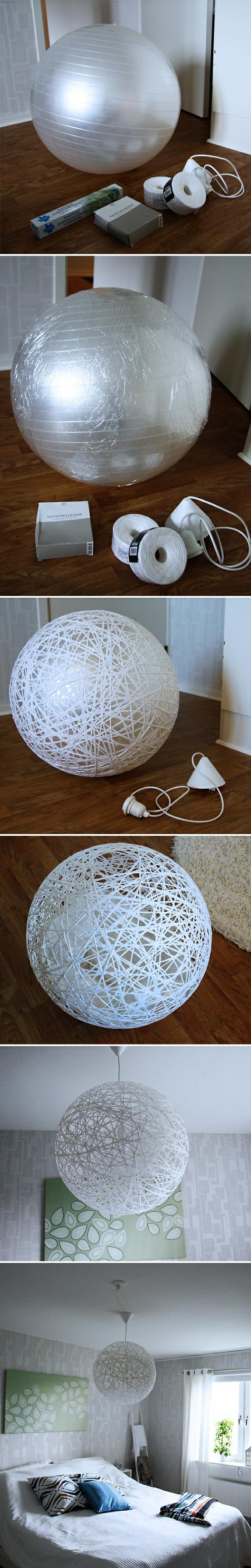 Do it yourself : make beautiful lampshade from string