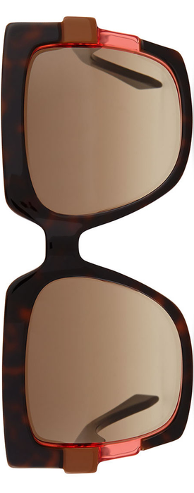 Fendi Large Square Colorblock Sunglasses