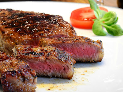 Beef steak recipe with sauce