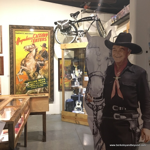 Hopalong Cassidy memorabilia displayed at Museum of Western Film History in Lone Pine, California