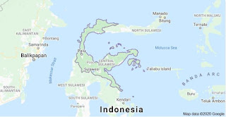 Peta provinsi Sulawesi Tengah