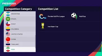 Iranian league pes21 sp21
