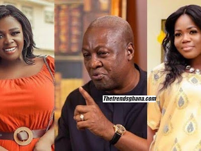 Mzbel And Tracey Boakye Unfollows Former President John Mahama Following Their Beef |Photo