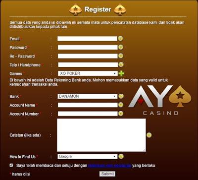 Ayo Casino Agen Judi Casino Terbaik