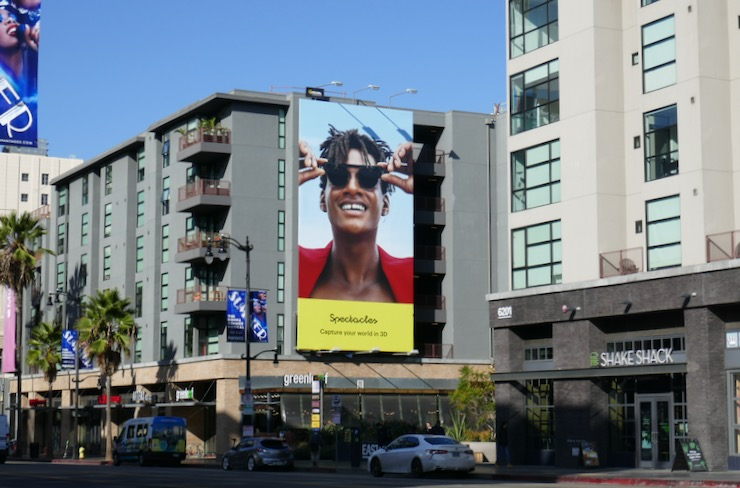 Spectacles Snapchat billboard Hollywood