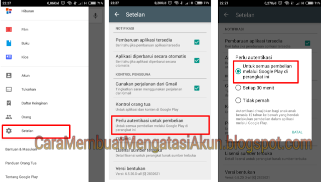 cara ganti password gmail di android