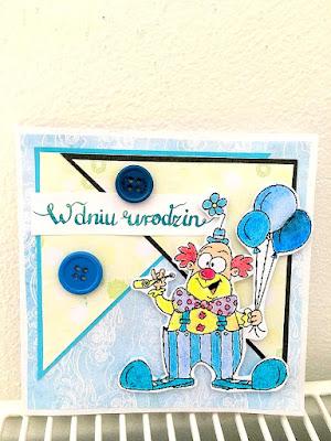 Kartka z wesołym clownem