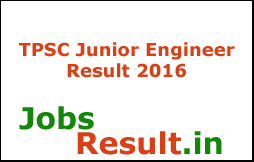 TPSC Junior Engineer Result 2016