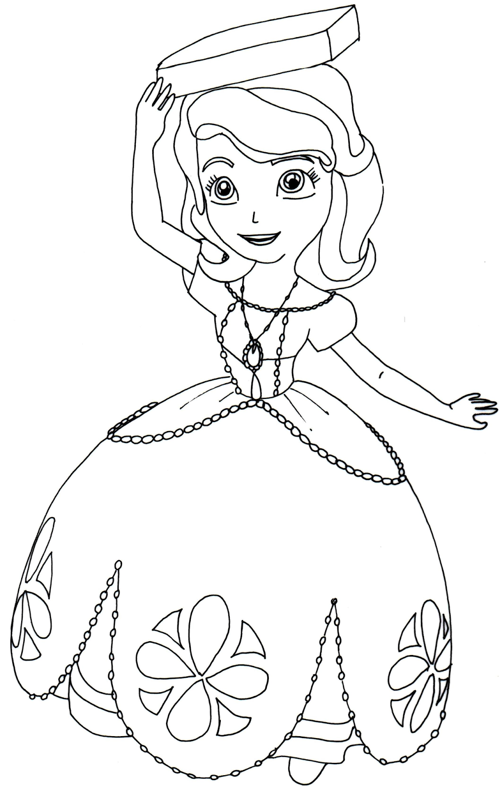 Sofia The First Coloring Pages: Perfect Posture - Sofia ...