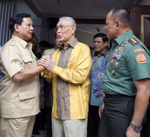 Prabowo: Kita Harus Kompak dengan Panglima TNI dan Purnawirawan