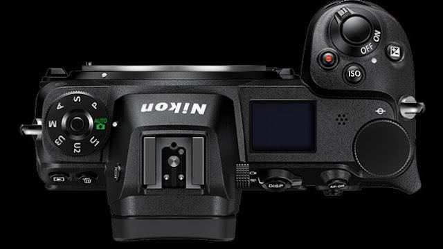 Desain Kamera Nikon Z6 bagian atas