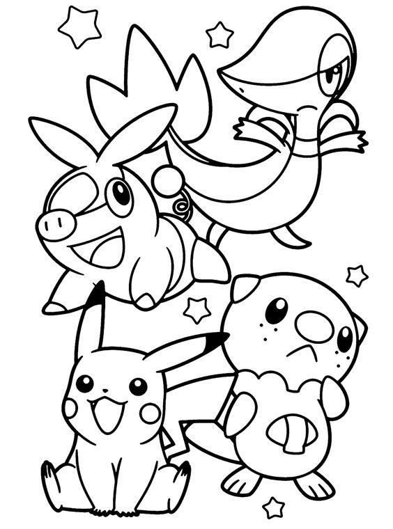 Tranh tô màu Pokemon 1