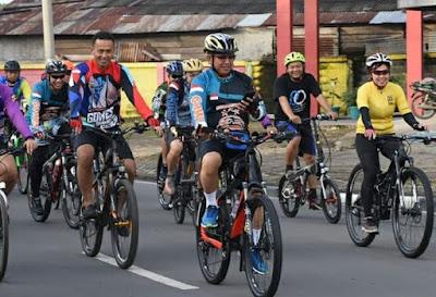Peringati Hari Juang Kartika 2019, TNI-Polri Di Jambi Gowes Keliling Bersama di Kota Jambi