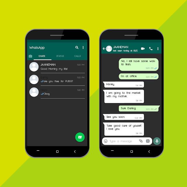 wilirax whatsapp dark mode sample