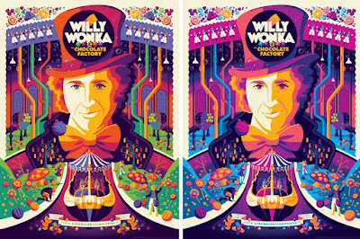 Willy Wonka and the Chocolate Factory Regular & Variant Editions Screen Prints by Tom Whalen x Dark Hall Mansion
