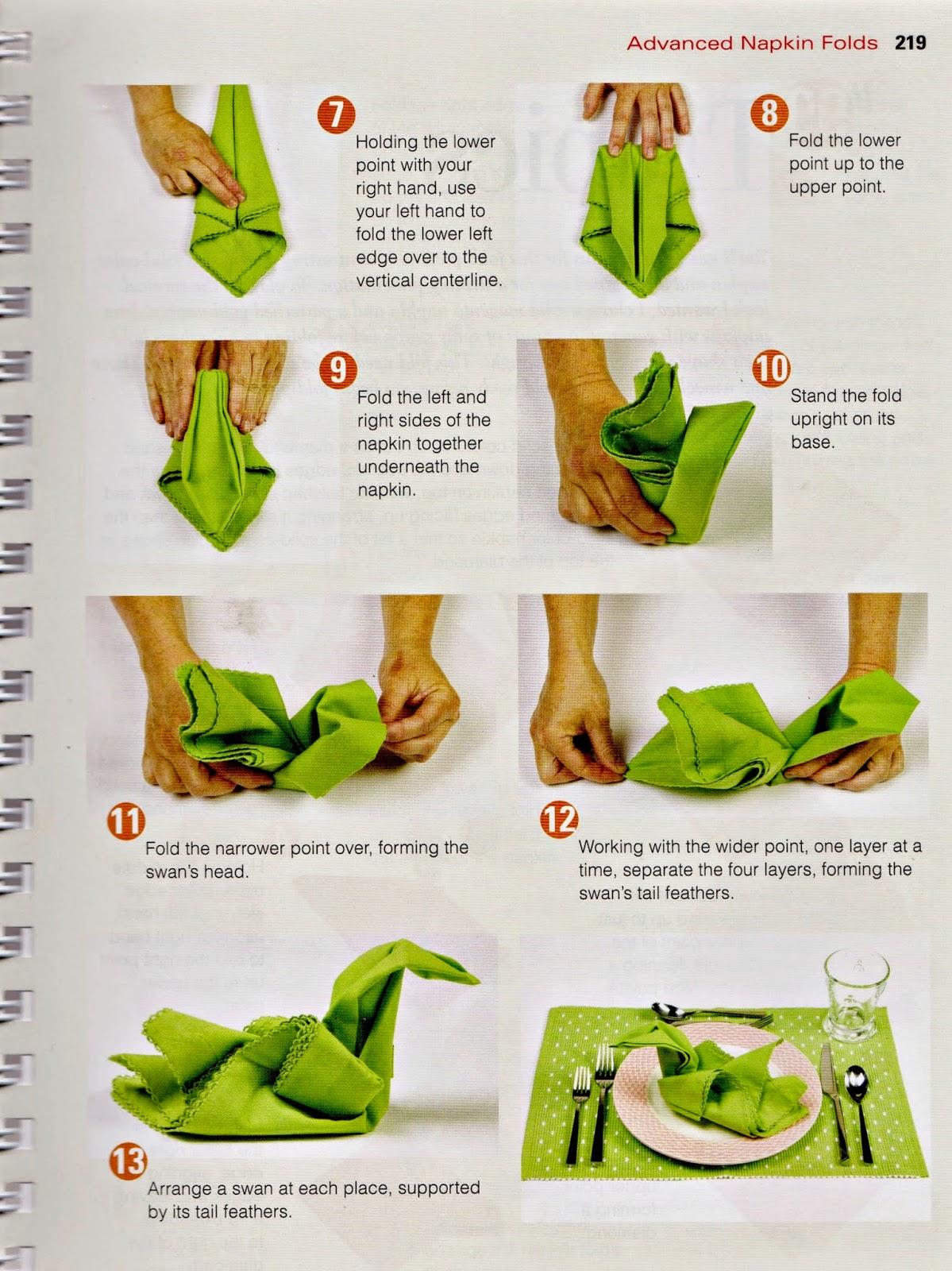 bunny napkin folding instructions