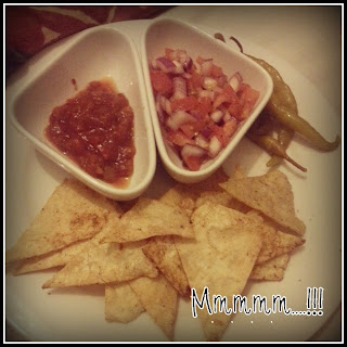 home made tortilla chips with home made salsa