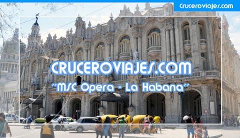 ViDEOS - MSC OPERA ZARPANDO DE LA HABANA