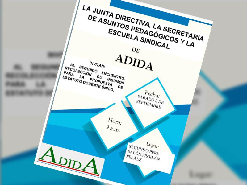 Invitación al II Encuentro de recolección de insumos para propuesta del estatuto único docente