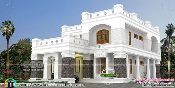 Colonial house decorative style architecture