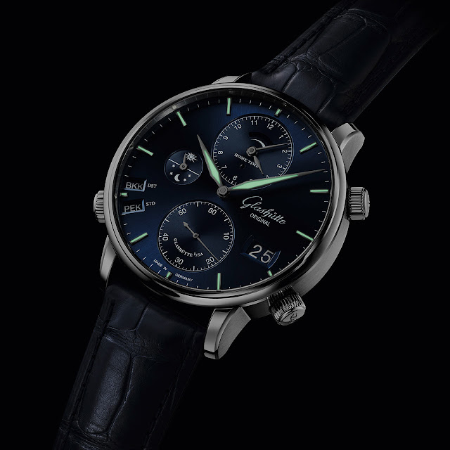 Glashütte Original Senator Cosmopolite in midnight blue ref. 1-89-02-05-02-01