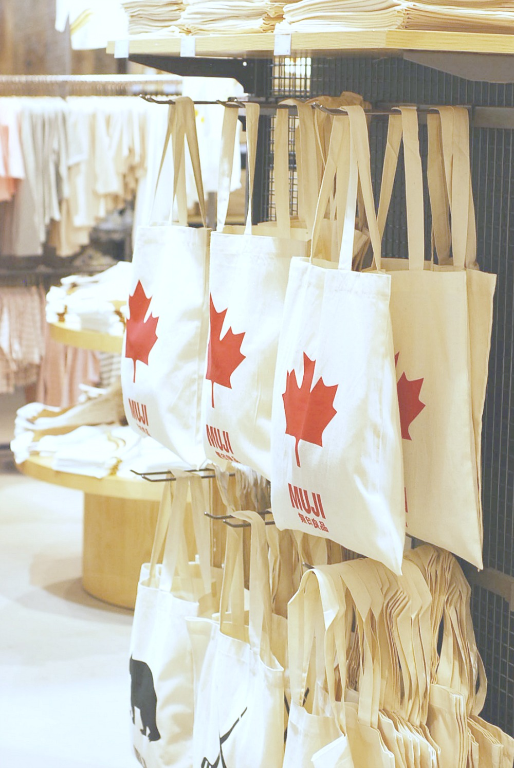 MUJI Canada Tote Bags