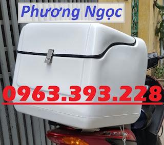 Thùng chở hàng sau xe máy cỡ trung, thùng ship cơm hộp, thùng giao hàng  C6e259c22b54c90a9045
