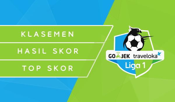 Gambar Klasemen, Hasil Skor dan Top Skor Gojek Traveloka Liga 1 2017