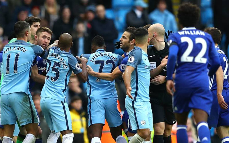 FA fines Chelsea and Man City for player fight