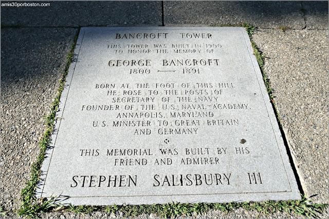 Placa del Bancroft Tower en Worcester, Massachusetts