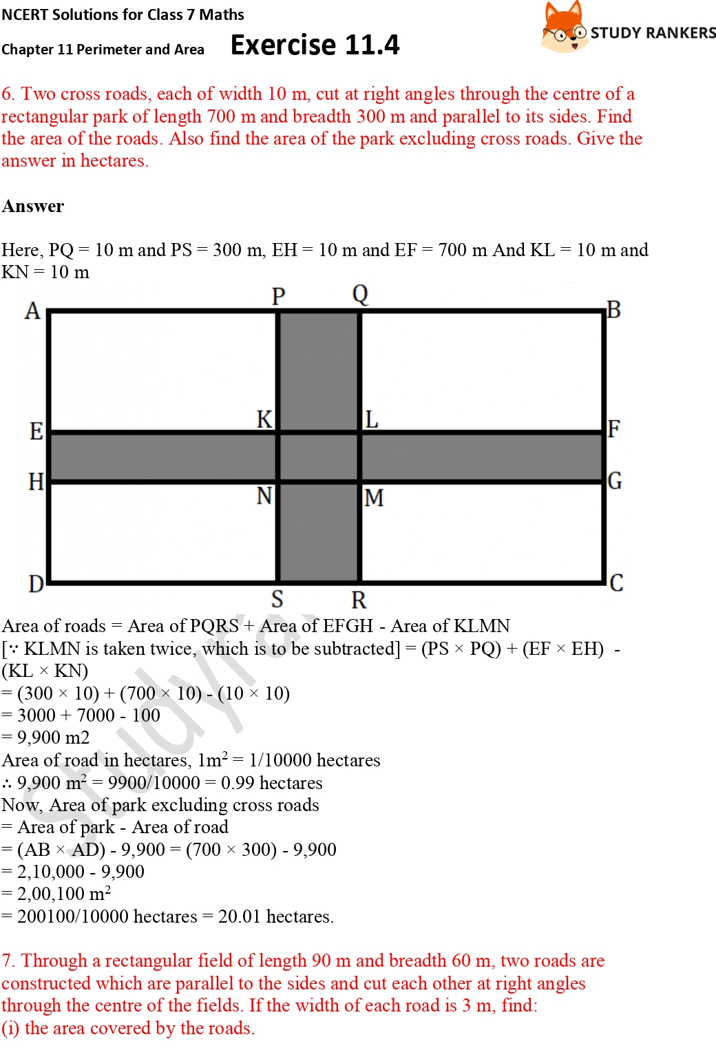 NCERT Solutions for Class 7 Maths Ch 11 Perimeter and Area Exercise 11.4 Part 4