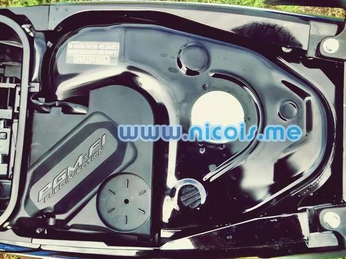 Tampilan tanki bensin New Supra X 125 FI 2014