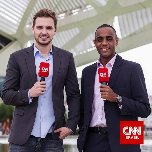 Gustavo Lago e Jairo Nascimento repórteres CNN Brasil no Rio de Janeiro